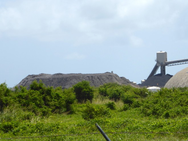 A five-story coal ash pile next to the AES electric power plant in Guayama, Puerto Rico. Hilda Llorens, Author provided